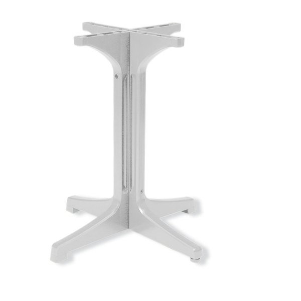 Grosfillex 55631804 White Resin Pedestal Outdoor Table Base