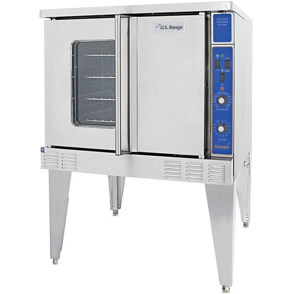 Garland / U.S. Range SUMG-200 Summit Series Natural Gas Double Deck Full Size Convection Oven - 106,000 BTU Main Image 1