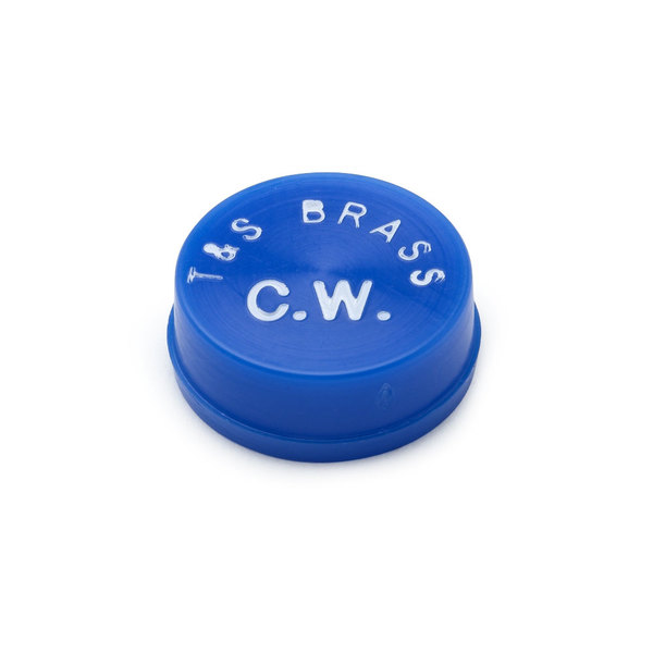 T&S 001686-45 Medium Blue Cold Water Snap-In Index Button Main Image 1