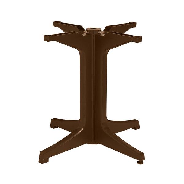 Grosfillex US624237 Bronze Mist Resin Pedestal Outdoor Table Base Main Image 1