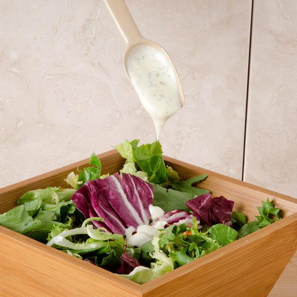 Carlisle 445006 .25 oz. Beige Solid Salad / Salad Bar / Buffet Spoon