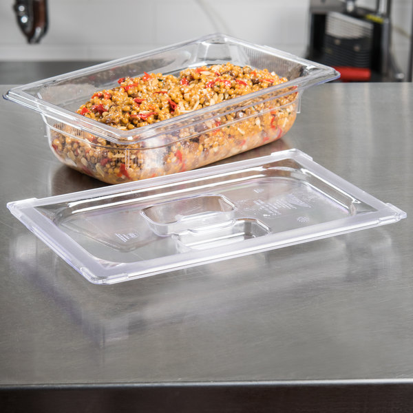 Vollrath 31400 Super Pan® 1/4 Size Clear Polycarbonate Solid Cover