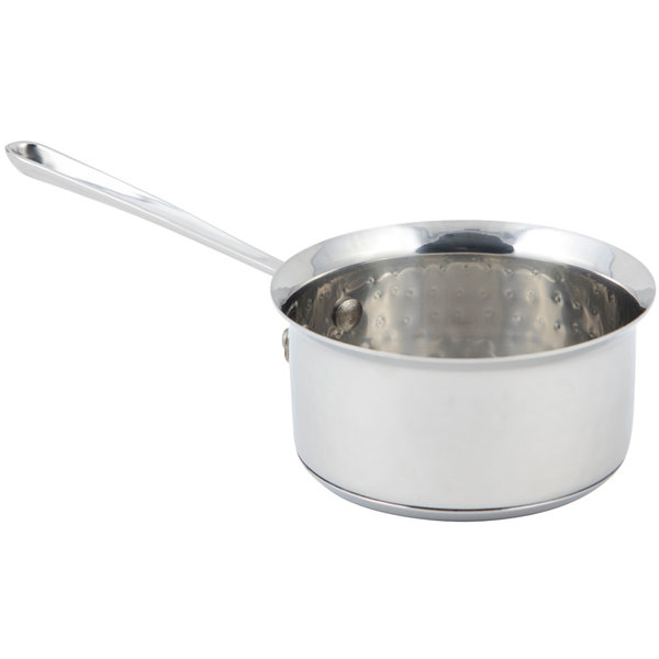 Bon Chef 60009HF Cucina 0.5 Qt. Hammered Finish Stainless Steel Butter Warmer Main Image 1