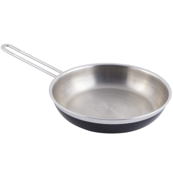 Bon Chef 60307 Classic Country French Collection 1 Qt. 20 oz. Black Saute Pan / Skillet with 1 Long Handle