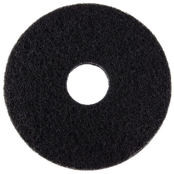 """Scrubble by ACS 72-12 Type 72 12"""" Black Stripping Floor Pad - 5/Case"""
