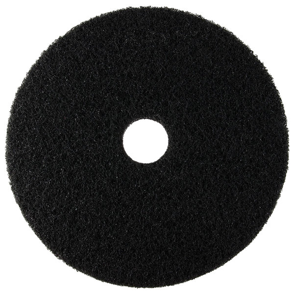 "Scrubble by ACS 72-18 Type 72 18"" Black Stripping Floor Pad - 5/Case"