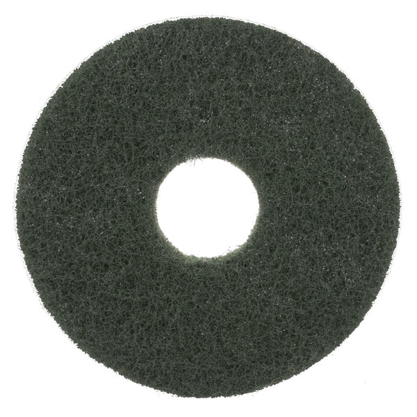 """Scrubble by ACS 55-16 Type 55 16"""" Green Scrubbing Floor Pad - 5/Case Main Image 1"""