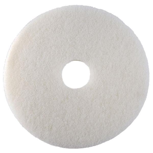 "Scrubble by ACS 41-19 Type 41 19"" White Polishing Floor Pad - 5/Case"