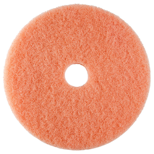 """Scrubble by ACS 36-19 19"""" Pink Burnishing Floor Pad - Type 36 - 5/Case"""