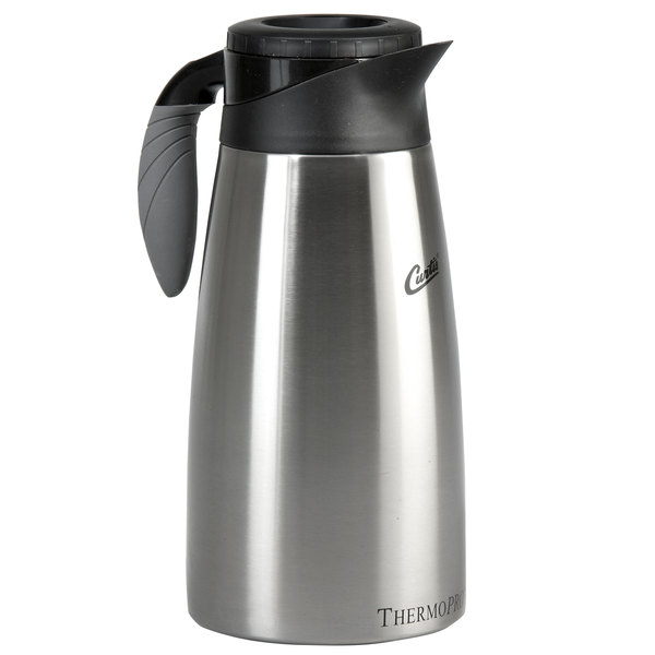 Curtis TLXP1901S000 64 oz. Stainless Steel Coffee Server with Liner and Brew Thru Lid Main Image 1