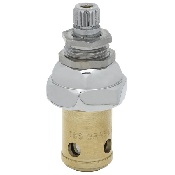 T&S 006478-40 Eterna Spindle Assembly for Dome Right to Close Hot Faucet Handles Main Image 1