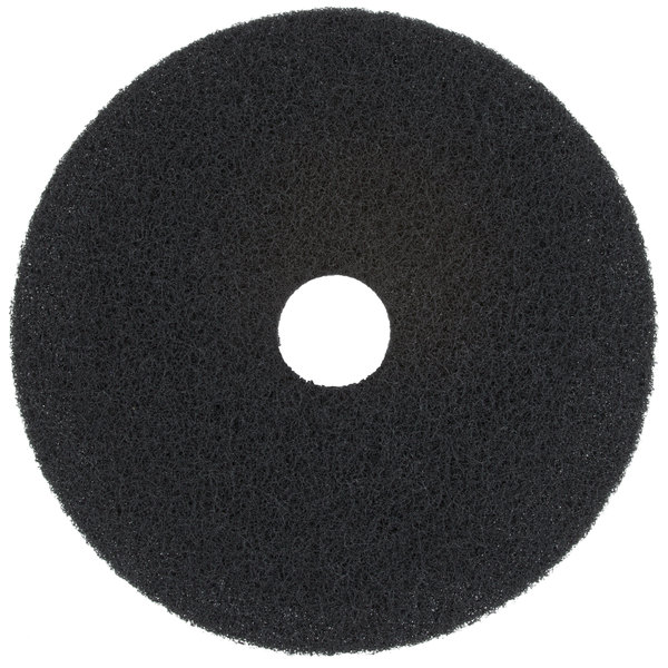 """Scrubble by ACS 72-19 Type 72 19"""" Black Stripping Floor Pad - 5/Case"""