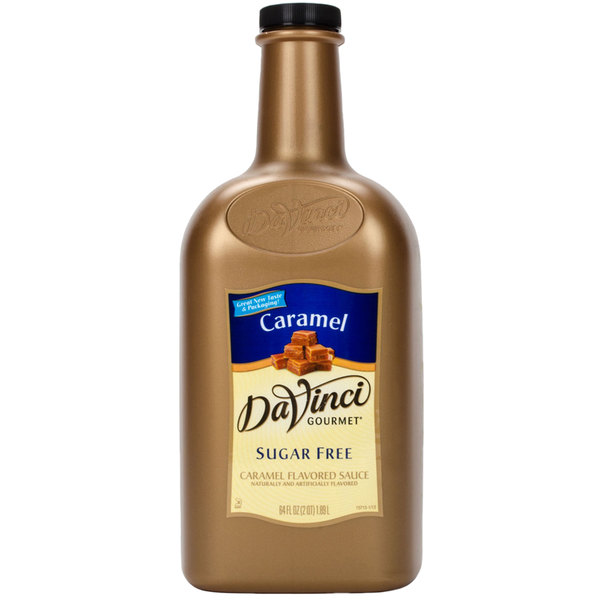 DaVinci Gourmet 1/2 Gallon Sugar Free Caramel Flavoring Sauce