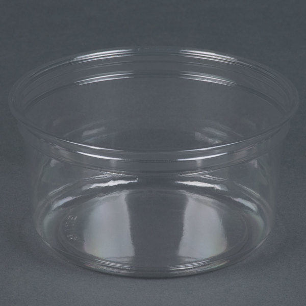 Dart Solo DM12R-0900 Bare 12 oz. Clear Deli Container Recycled - 500 / Case