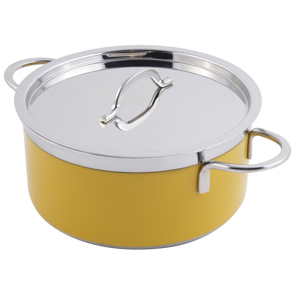 Bon Chef 60302 Classic Country French Collection 4.3 Qt. Yellow Pot with Cover