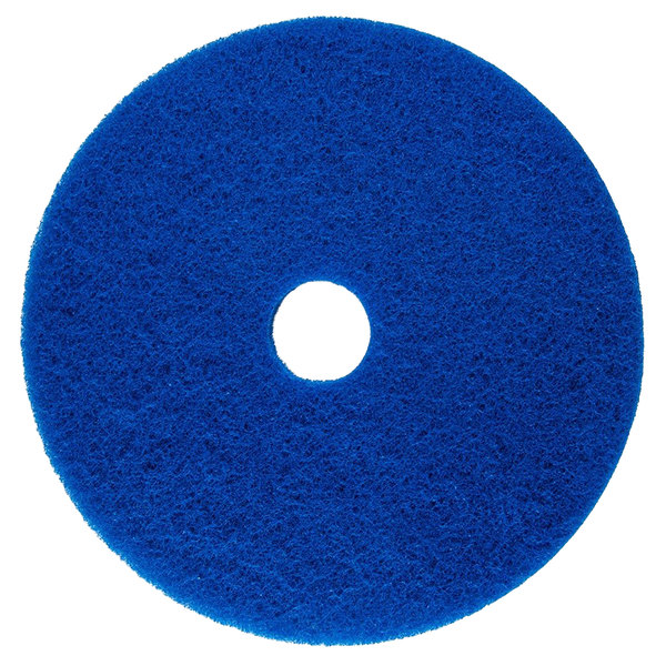 "Scrubble by ACS 53-19 Type 53 19"" Blue Cleaning Floor Pad - 5/Case Main Image 1"