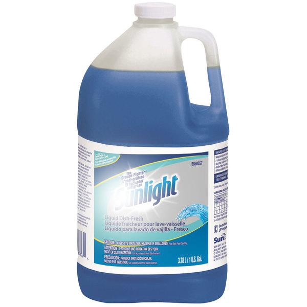 Diversey 95850557 Sunlight 1 gallon / 128 oz. Fresh Liquid Dish Detergent - 4/Case