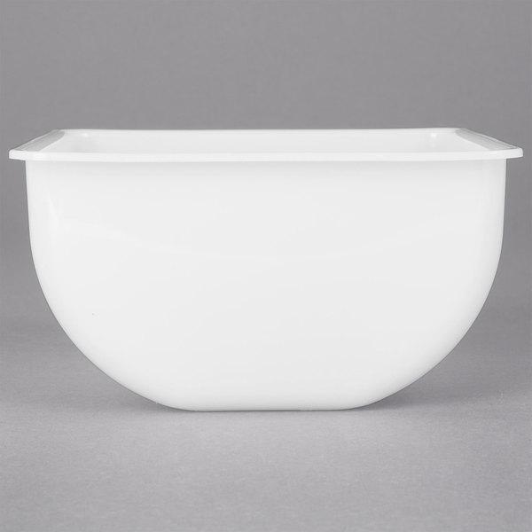 San Jamar B432 2 Pint / 32 oz. White Plastic Tray Insert Main Image 1