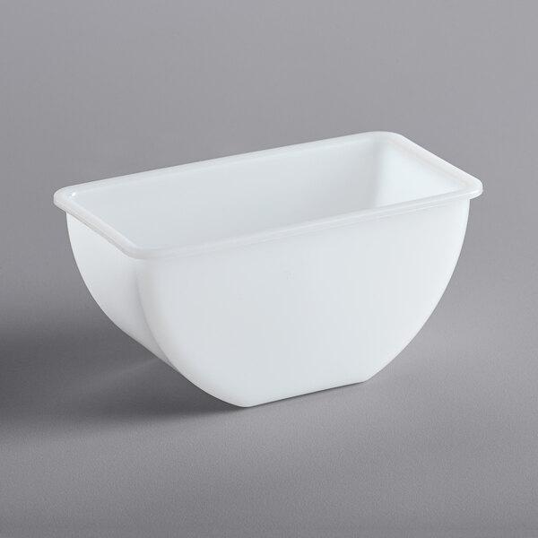 San Jamar B416 1 Pint/16 oz. White Plastic Tray Insert Main Image 1