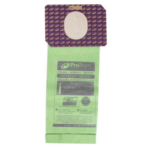 ProTeam 103483 Intercept Vacuum Bag for Upright Vacuums - 10/Pack