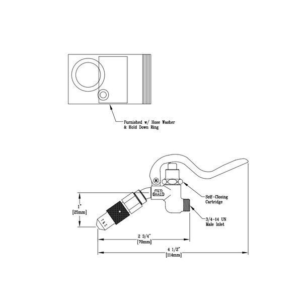 T&S 009548-40 Spray Valve Assembly for B-0974 Bedpan Washer
