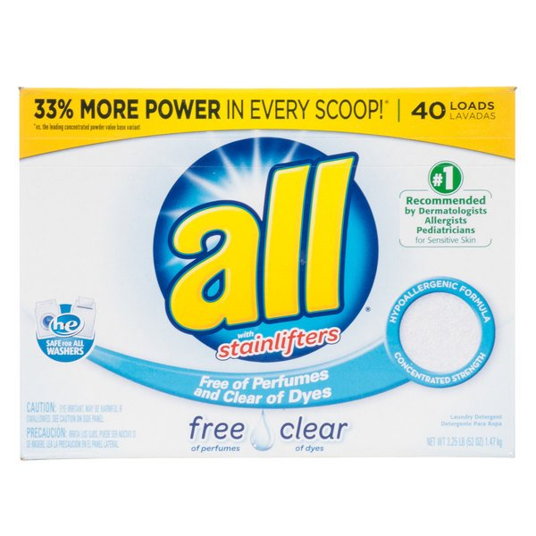 52 oz. Diversey CB456816 All Free & Clear Hypoallergenic Laundry Detergent Powder - 6/Case