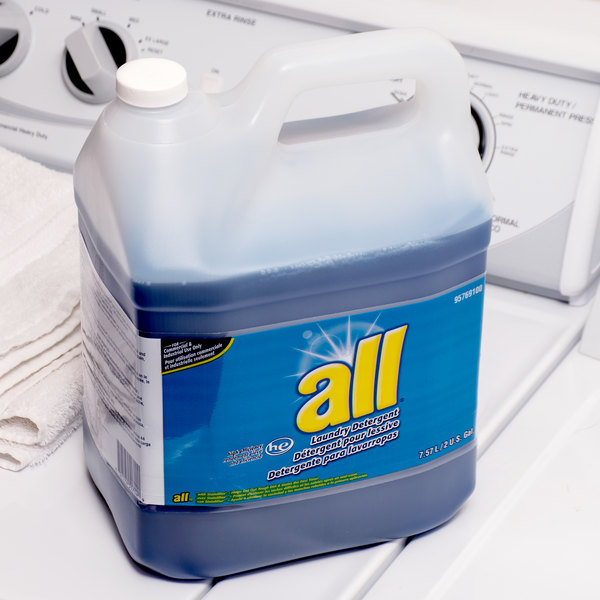 2 Gallon Diversey 95769100 All High Efficiency Liquid Laundry Detergent - 2/Case