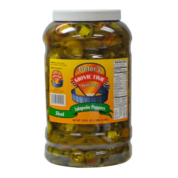 Great Western 14101 1 Gallon Sliced Jalapeno Nacho Peppers - 4/Case