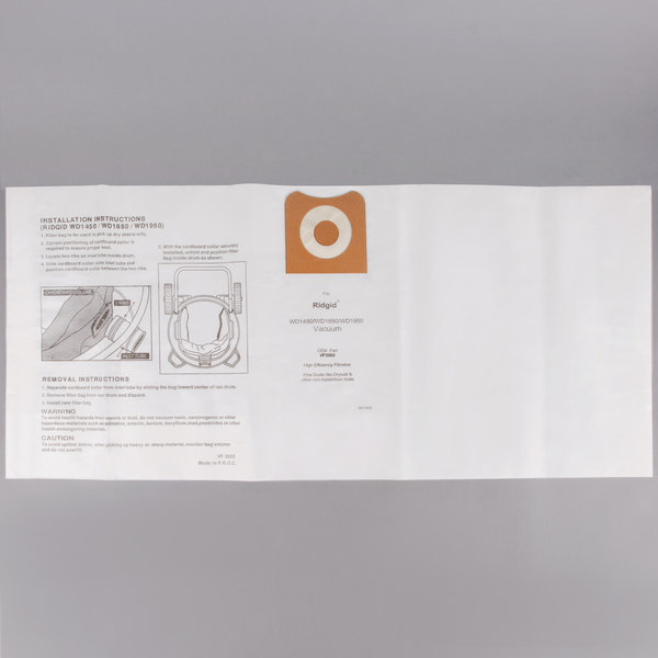 Vacuum Bag for ProTeam 15 and 20 Gallon Wet / Dry Vacuums - 2/Pack