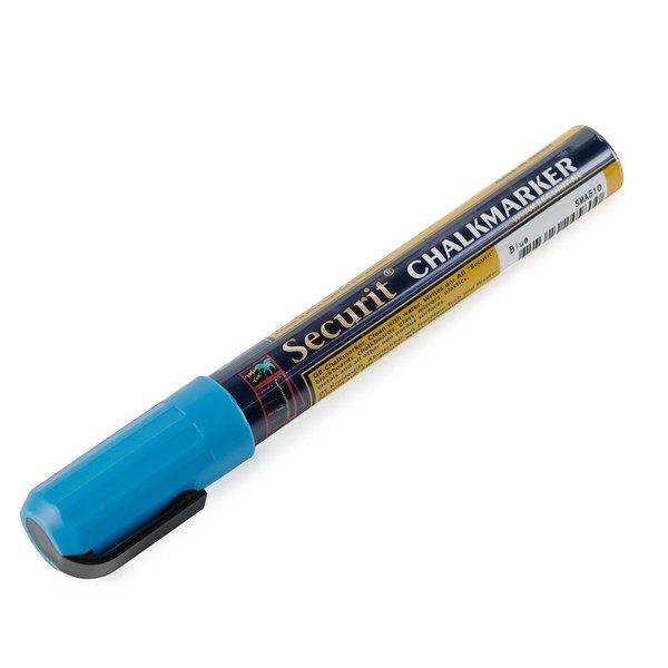 American Metalcraft BLSMA510BU Securit All-Purpose Small Tip Blue Chalk Marker - 2/Pack