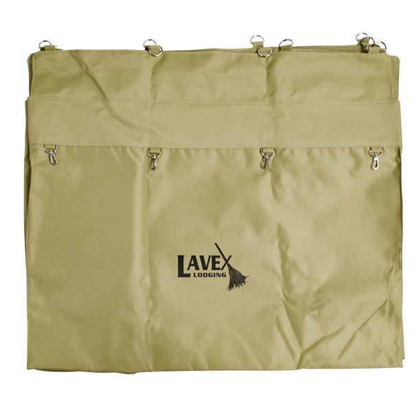 Lavex Lodging 12 Bushel Replacement Canvas Liner for Metal Frame Laundry / Trash Cart with Handles Main Image 1