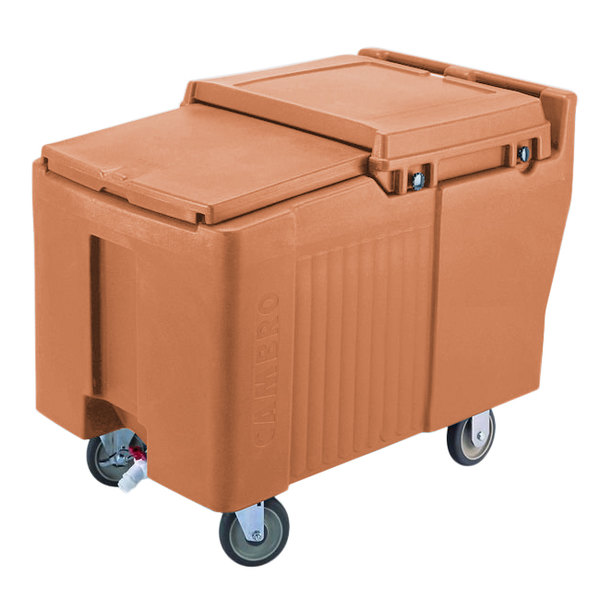 Cambro ICS175L157 SlidingLid™ Coffee Beige Portable Ice Bin - 175 lb. Capacity