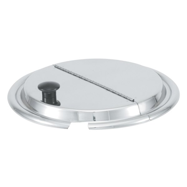 "Vollrath 47490 11 7/16"" Kool-Touch Stainless Steel Hinged Cover"