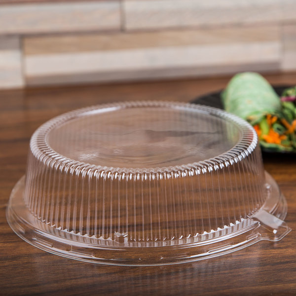 "Fineline Platter Pleasers 9209-L 9"" Clear Dome Lid - 120/Case"