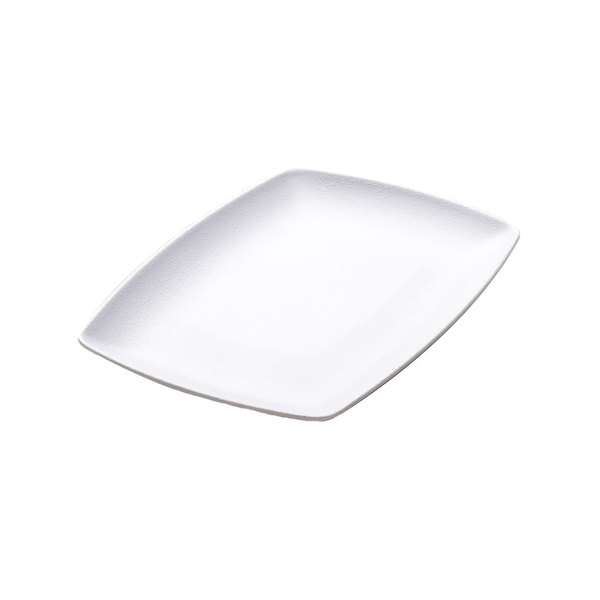 "Elite Global Solutions JW7315 Zen 14 7/8"" x 11 3/8"" White Rectangular Platter - 6/Case"