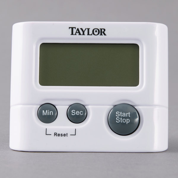 Restaurant Kitchen Timers taylor 5827-21 white classic digital pocket kitchen timer