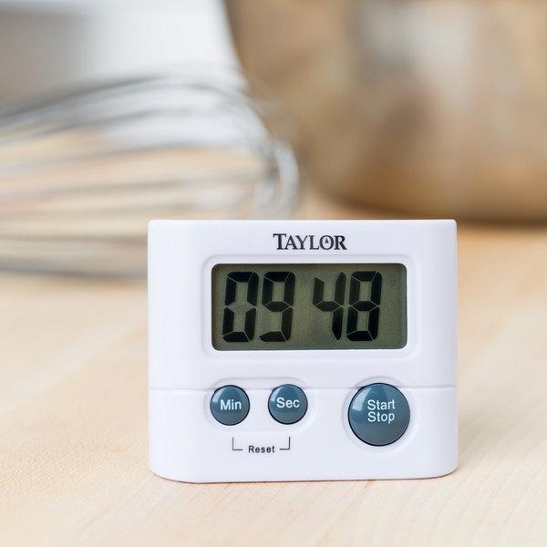 Taylor 5827-21 White Classic Digital Pocket Kitchen Timer