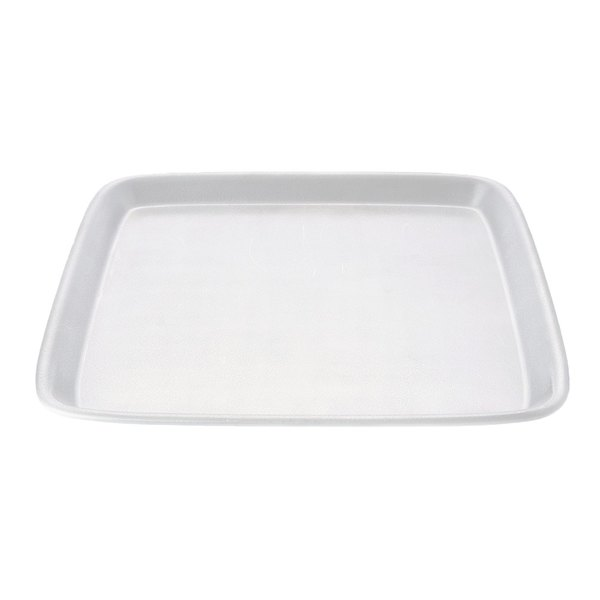 "Elite Global Solutions JW5212 Zen 12 1/8"" White Square Tray - 6/Case"