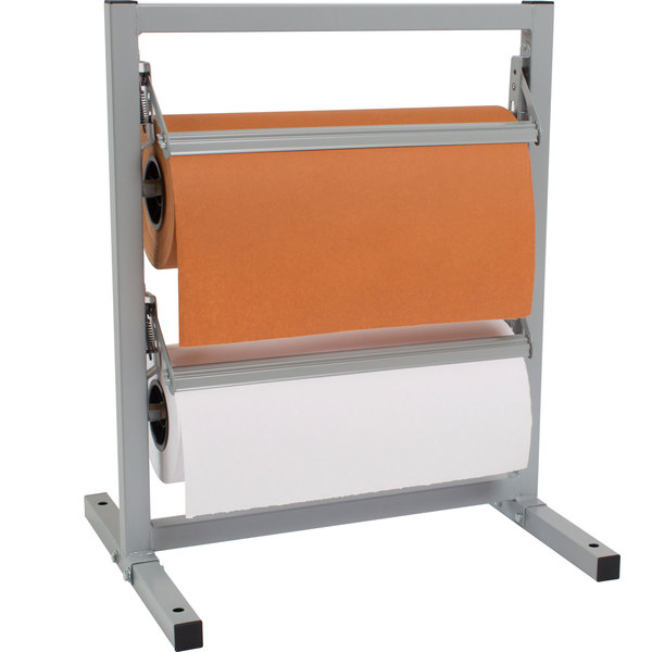 """Bulman T342R-15 15"""" Two Deck Tower Paper Rack with Serrated Blade"""