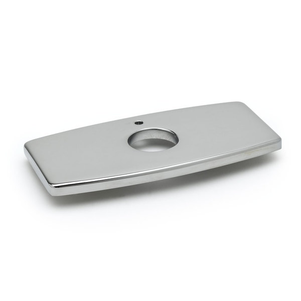 "T&S 013433-40 Chrome Plated Forged Deck Plate with 4"" Centers"