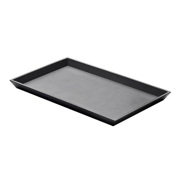 "Elite Global Solutions JW5216 Zen 15 3/4"" x 10 1/4"" Black Rectangular Tray - 6/Case"