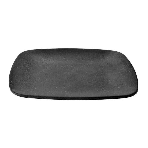 "Elite Global Solutions JW5006 Zen 5 5/8"" Black Square Plate - 6/Case Main Image 1"