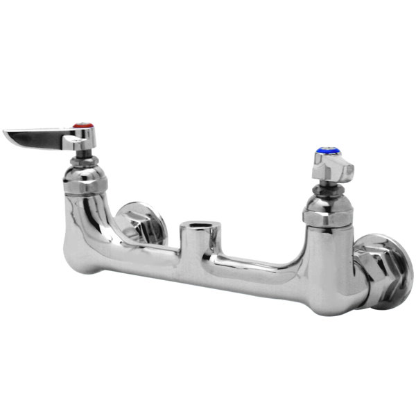 "T&S 013988-40 Wall Mount Faucet Base with 8"" Centers and 1/2"" NPT Outlet"