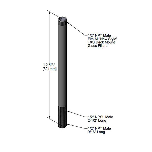 T&S 015888-40 Pedestal for B-1210-01 Glass Filler Main Image 1