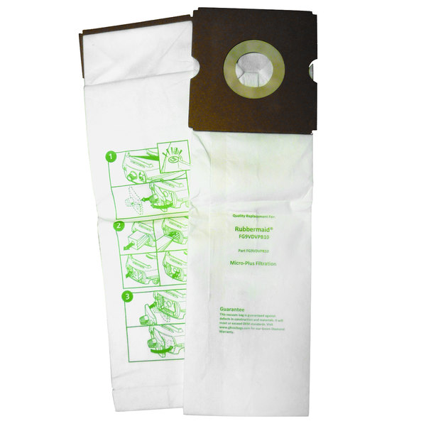 Vacuum Bag for Rubbermaid DVAC Vacuums - 10/Pack