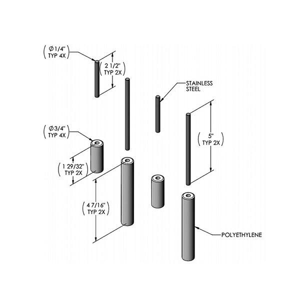 T&S 014925-45 Roller Guide Kit for B-7245 Hose Reels