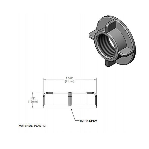T&S 016673-45 Plastic Shank Nut