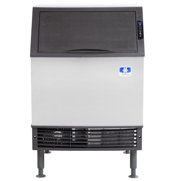 """Manitowoc UY-0240A NEO 26"""" Air Cooled Undercounter Half Size Cube Ice Machine with 80 lb. Bin - 120V, 225 lb."""