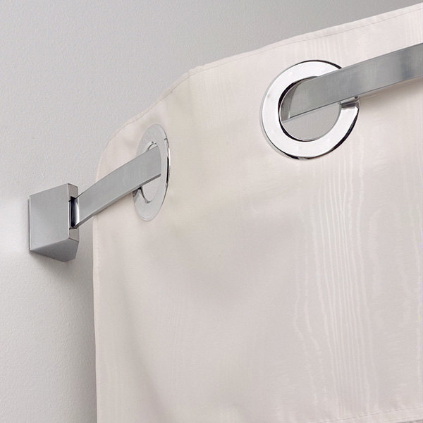 ... Shower Curtain Rod With Brushed Nickel Finish. Main Picture · Image  Preview