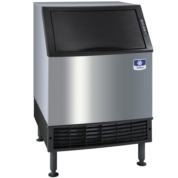 "Manitowoc UY-0140A NEO 26"" Air Cooled Undercounter Half Size Cube Ice Machine with 90 lb. Bin - 132 lb."